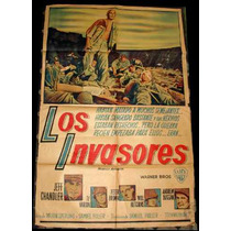 Antiguo Y Espectacular Poster Afiche Los Invasores Warner