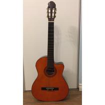 Guitarra Criolla Electrica Color Madera, Marca Ramallo.