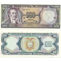 Billete Ecuador 500 Sucres Año 1988 Sin Circular