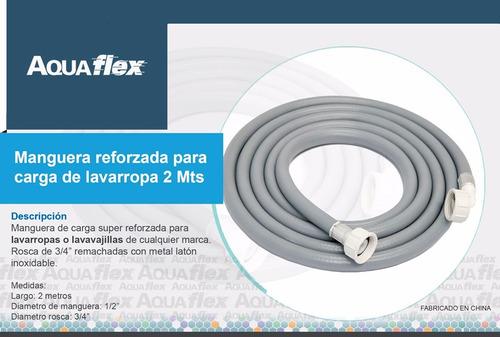 Manguera Flexible Carga Lavarropa 2 Mts Pcl200 Aquaflex