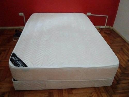 Colchon Y Somier Alta Densidad Premium 140x190 Fabrica Nayan ...
