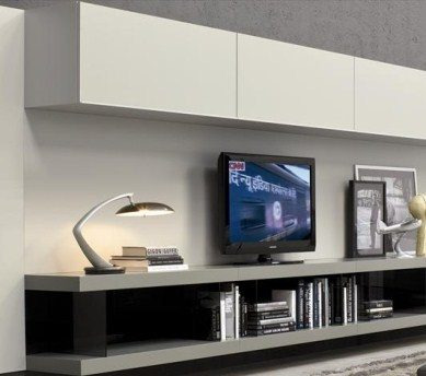 Mueble modular moderno lcd living progetto mobili for Muebles modernos para living