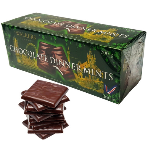 Chocolate Amargo Tipo After Eight Relleno Menta 200g Ingles