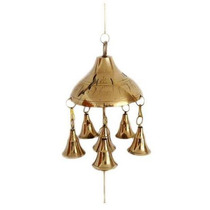 Campana Bronce Made In India Llamador De Angeles Precio X 3