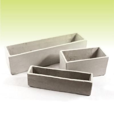 Jardinera 80 30 30 macetas de fibrocemento cemento ref Jardineras de cemento