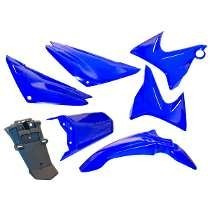 Kit Plasticos Yamaha Xtz 125 Azul 7 Piezas En Freeway Motos