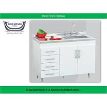 Bajo Mesada 120 Centro Estant Bm500 Blanco Wengue Cocina