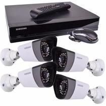 Camara De Vigilancia Kit Samsung Sds-p3042 Dvr