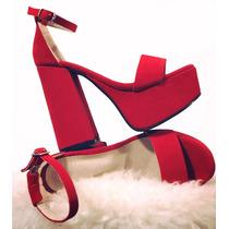 Zapatos Mujer Plataforma Fiesta Tacos Sandalias Microcentro