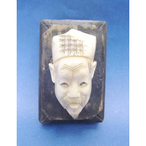 Antigua Figura Imágen Rostro Oriental De Celuloide