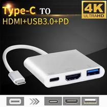 Adaptador Hdmi 4k Usb 3.1 Tipo C Macbook 12 Pro 16 /17 #43
