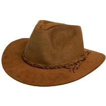 Sombrero Australiano De Cuero Nobucado - Lagomarsino -