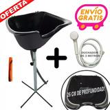 Kit Lavacabeza Portátil +duchador+desagote + Peine