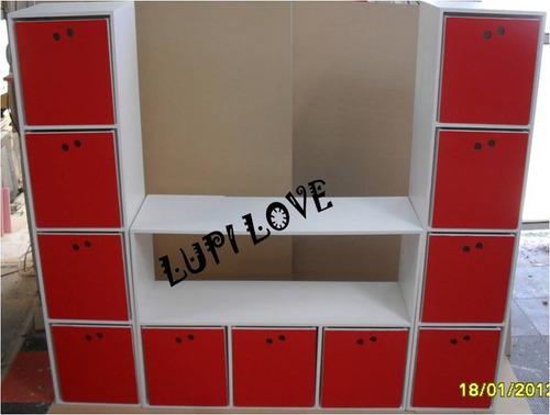 Organizador guarda juguetes libros cubos casita infantil - Guarda juguetes madera ...
