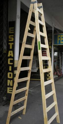 escalera de pintor de madera de 10 pelda os