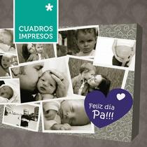 Día Del Padre - Collage Cuadro Impreso En Lienzo