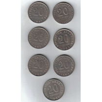 Argentina Serie Completa De 20 Centavos San Martin 1950-56 !