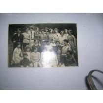 Antigua Foto Tarjeta Postal Mujeres 1929 Niñas Vestido Ropa