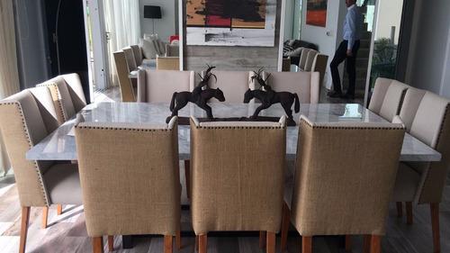 Mesa Comedor Marmol De Carrara Para 10 Sillas 48000 en Melinterest