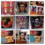 Cuadros Con Láminas Frida Kahlo - Combo Especial X 3