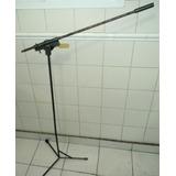 2 Pie De Microfono Jirafa Hierro Antiguo Altos Precio X 2