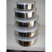 Taper Hermetico Bowls Set 11 Pz Acero Inox Restaurante Bols
