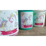 Tazas Plásticas Personalizadas Souvenir Infantil Unicornio