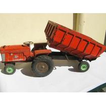 Tractor Con Acoplado Duravit Ind Argentina Juguete Antiguo