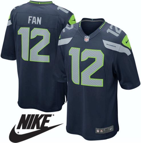 9ac841118fcc2 Camiseta Nfl Seattle Seahawks  12 Fanaticos Original Talle L