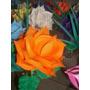 Flores De Goma Eva Laferrere - 10 Rosas Grandes