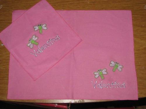 Set de jardin de infantes mantel individual servilleta for Azul naranja jardin de infantes