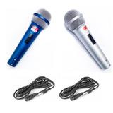 Set Microfono Doble Pack X2 Audio Karaoke + Cable Profesiona