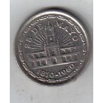 1 Peso Año 1960 Conmemorativa 150 Aniversario Revolucion