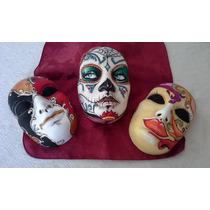 2 mascaras venecianas de yeso decoraci n para el hogar - Mascaras venecianas decoracion ...
