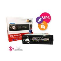 Stereo Usb C. Remoto Fm F Desmontable Bluetooth Deh-8001