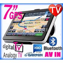 Gps 7 Pulgadas Garmin Xt Tv Digital Igo Bluetooth 4g Oferta!