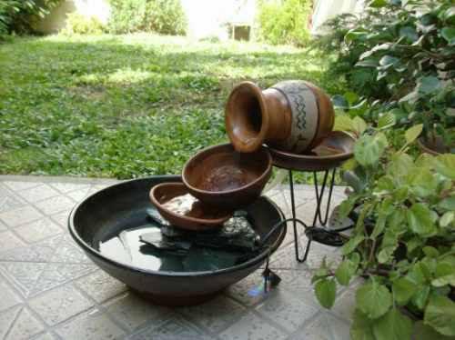 Fuente para exterior o interior cacharros rusticos otros for Peces para fuente exterior