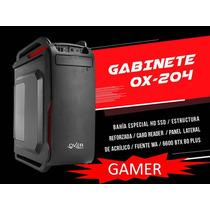 Gabinete Gamer Over Case Ox-204 Midtower Fuente 600w 80 Plus