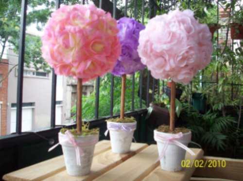 Arbolitos con flores topiarios hemrosos con flores de - Arbolitos para jardin ...