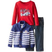 Set Importado Camiseta Y Saco De Algodón Más Jeans Niño