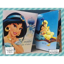 Souvenir Personalizado Caja Disney Aladdin Princesa Jazmin