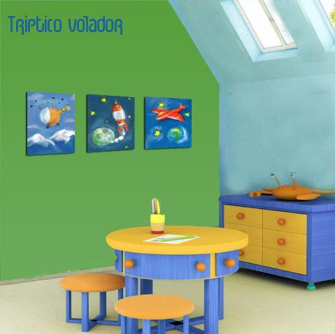 Cuadros infantiles y adolescentes con dise o muchos - Cuadros habitaciones infantiles ...