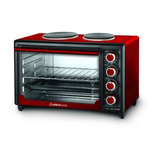 Horno Eléctrico Ultracomb Uc-40ac Doble Anafe 40lts Rojo Pce