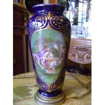 Antiguo Florero De Porcelana Francesa Sevres