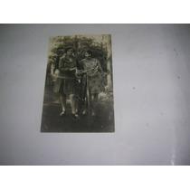 Antigua Foto Tarjeta Postal 1928 Mujeres Bicicleta Vestido