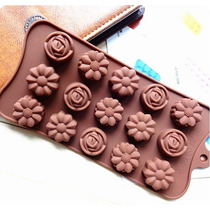 Molde De Silicona Chocolate Flores Bombones
