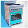 Cocina Morelli Vintage 600 63cm Tapa Vidrio Color Celeste