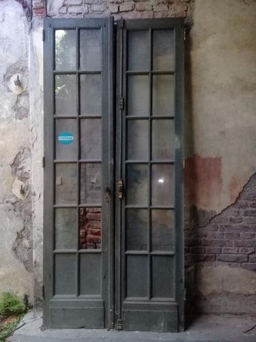 Puerta Madera Dos Hojas Vidrio Repartido En Venta En Agronomia