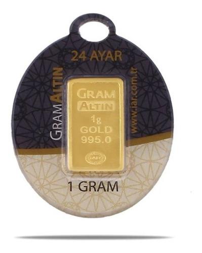 Lingote De Oro 1 Gramo De 24 Kilates Oro Fino Gramaltin Turq