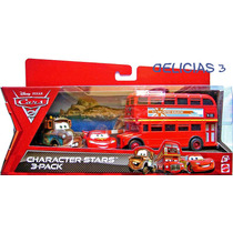 Cars 2 Pack X3 Grua Mater - Rayo - Micro Topper Deckington